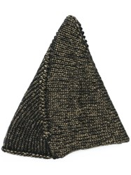 10Sei0otto Metallic Knit Beanie Black