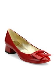Roger Vivier Belle De Nuit Patent Leather Pumps Red