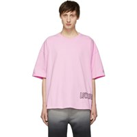Adaptation Pink Oversized Logo T Shirt