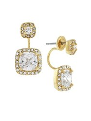 Cole Haan Social Climbers Front Back Earrings Gold