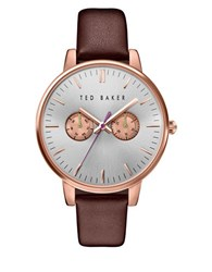 Ted Baker Liz Stainless Steel Leather Band Watch
