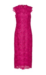 Monique Lhuillier Sleeveless Sheath Dress Pink