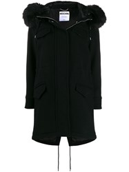 Moschino Faux Fur Hooded Coat 60