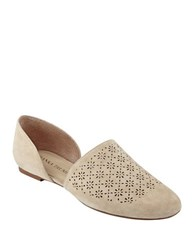 Ivanka Trump Evana D Orsay Perforated Suede Flats Light Natural