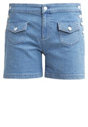 Kookai Denim Shorts Sky Bleach Bleached Denim