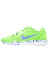 Nike Performance Free 5.0 Tr Fit 5 Sports Shoes Voltage Green Chalk Blue White Mint
