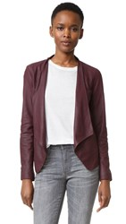 Bb Dakota Wyden Leather Jacket Aubergine