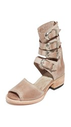Freebird By Steven Pilar Cutout Booties Taupe
