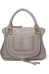 Chloe Marcie Medium Textured Leather Tote Gray