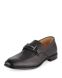 Neiman Marcus Ash Horsebit Leather Loafer Black