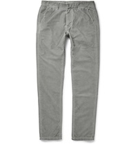 Tomas Maier Slim Fit Cotton Corduroy Trousers Gray