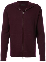 Atm Anthony Thomas Melillo Zip Up Hoodie Cashmere Wool Pink Purple
