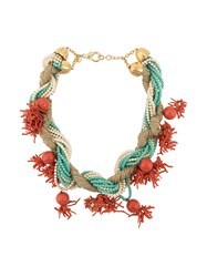 Valentino Vintage Couture Necklace Red