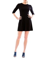 Natalia Allen Seamless Fit And Flare Dress Black