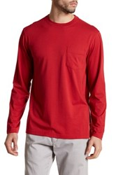 Tommy Bahama Bali Skyline Long Sleeve Pocket Tee Red