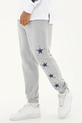 Forever 21 Nfl Cowboys Fleece Sweatpants Heather Grey Blue