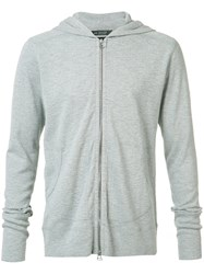 Wings Horns Zipped Hoody Grey