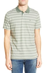 Men's Volcom 'Wowzer' Slim Fit Stripe Jersey Polo Forest
