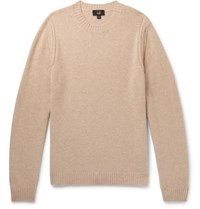 Dunhill Cashmere And Yak Blend Sweater Sand