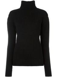 Anthony Vaccarello Turtleneck Ribbed Sweater Black