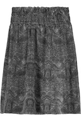 Iro Aldora Printed Silk Mini Skirt Black
