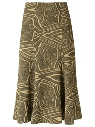 Lilly Sarti Knit Midi Skirt Green