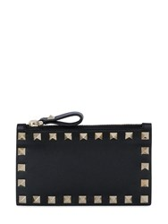 Valentino Garavani Rockstud Leather Zip Black