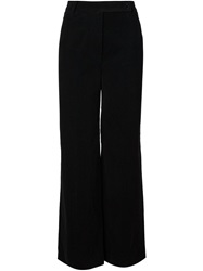 Carven High Waist Wide Leg Trousers Black