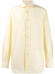Kiton Classic Striped Shirt Yellow