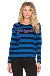 Sundry Merci Long Sleeve Raglan Tee Blue