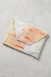 Anthropologie Shibori Tasselled Clutch Pink