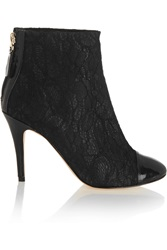 Lucy Choi London Euginie Lace Ankle Boots