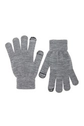 Forever 21 Marled Knit Texting Gloves Charcoal