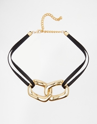 Gogo Philip Chunky Link Choker Necklace Gold