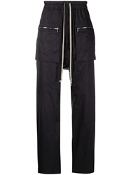 Rick Owens Drkshdw Dropped Crotch Track Trousers Black