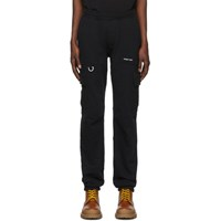 Off White Black Jersey Logo Cargo Trousers