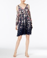Inc International Concepts Cold Shoulder Peasant Dress Only At Macys's Falling Flowers