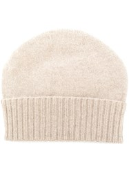 Cruciani Knitted Beanie Nude And Neutrals