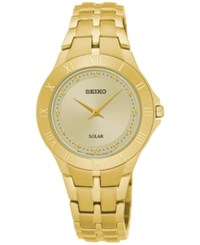 Seiko Women's Solar Recraft Series Gold Tone Stainless Steel Bracelet Watch 30Mm Sup310 No Color
