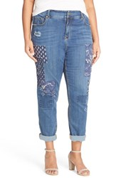 Plus Size Women's Melissa Mccarthy Seven7 High Rise Patch Girlfriend Jeans Timber