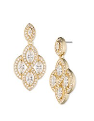Anne Klein Cubic Zirconia Chandelier Earrings Gold