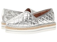 Love Moschino Sparkle Quilted Espadrille Silver