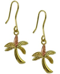 Giani Bernini Palm Tree Drop Earrings Only At Macy's Gold