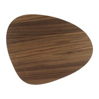 Lind Dna Small Reversible Table Mat Curve Walnut Black