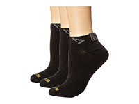 Drymax Sport Thin Run Mini Crew 3 Pair Pack Black Crew Cut Socks Shoes