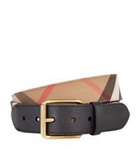 Burberry Shoes And Accessories House Check Belt Unisex Black