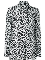Dolce And Gabbana Dotted Print Blouse Black