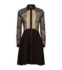 Sandro Leda Lace Shirt Dress Female Black
