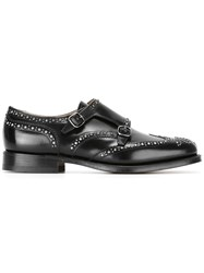 Church's Studded Spazzolato Monk Shoes Black