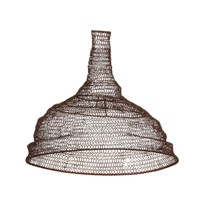 Nkuku Jatani Wire Lampshade Conical Rust